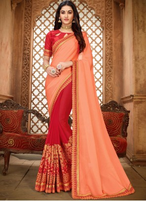 Peach Ceremonial Classic Designer Saree