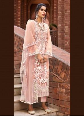 Peach Ceremonial Designer Pakistani Salwar Suit