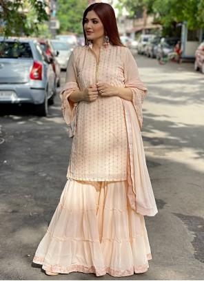 Peach Color Designer Pakistani Salwar Suit