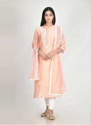 Peach Color Readymade Suit