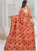 Peach Fancy Fabric Designer Saree