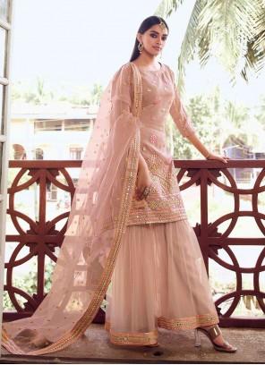 Peach Festival Designer Pakistani Salwar Suit