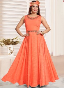 Peach Malbari Silk  Salwar Kameez