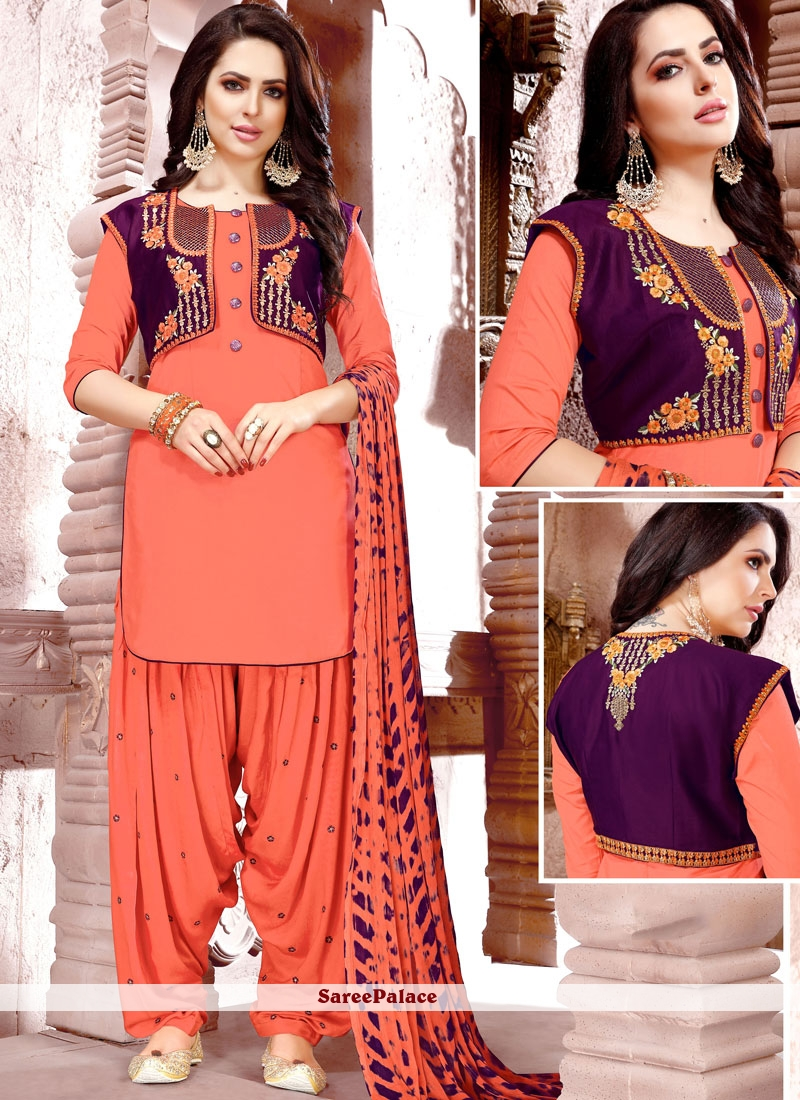 ec9aa4bd912 Buy Peach Punjabi Suits Online Shopping - 103771 - Saree Palace