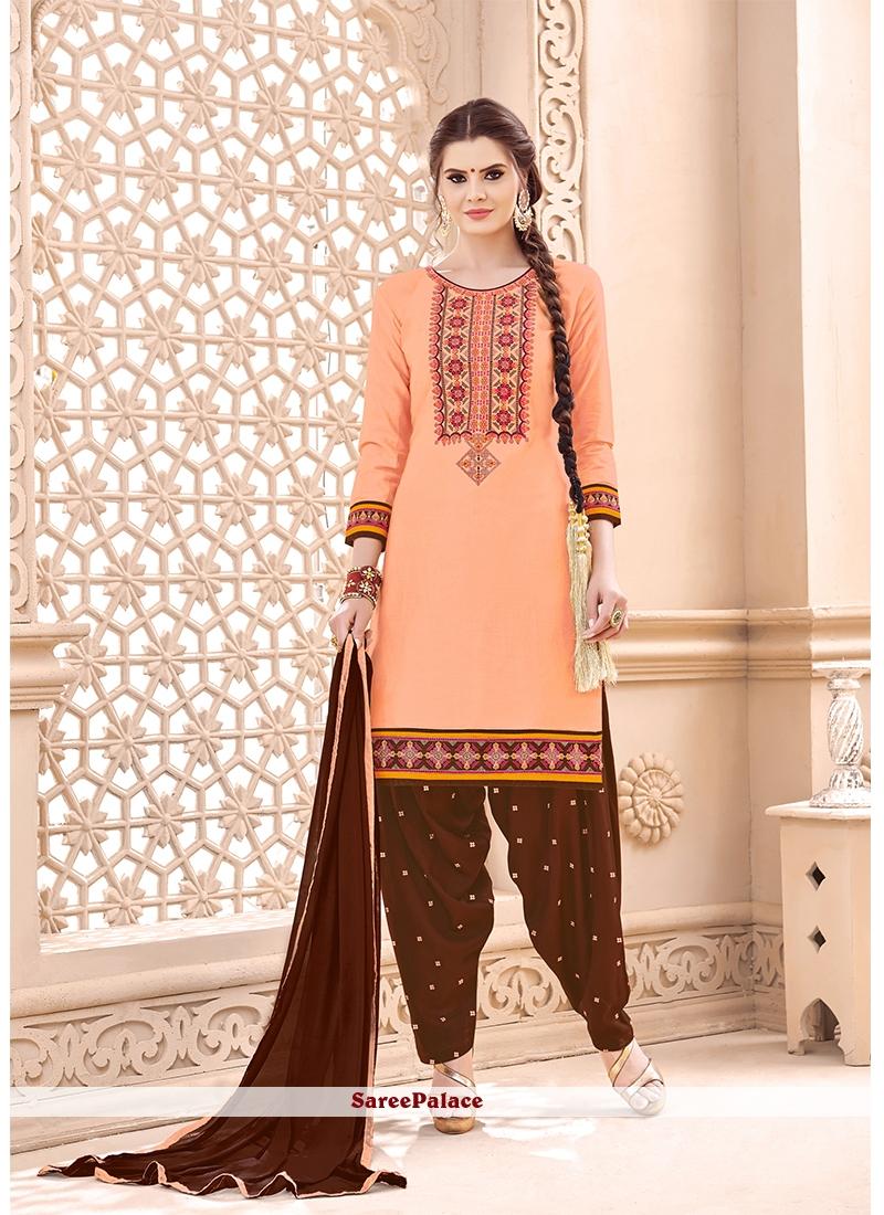 Peach Punjabi Suit