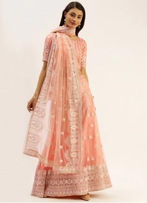 Peach Reception Bollywood Lehenga Choli