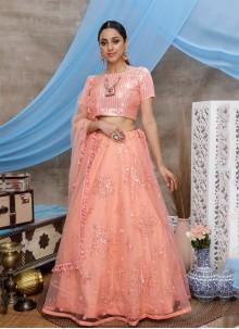 Peach Wedding Designer Lehenga Choli