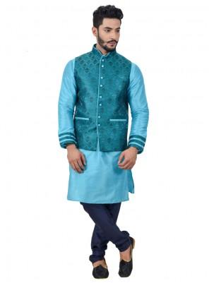 Peppy Art Silk Kurta Payjama With Jacket
