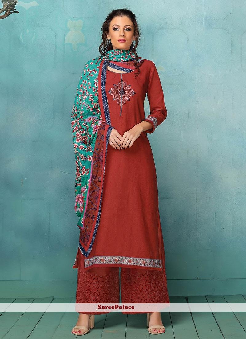 39cc27902e3 Buy Peppy Art Silk Maroon Designer Palazzo Suit Online