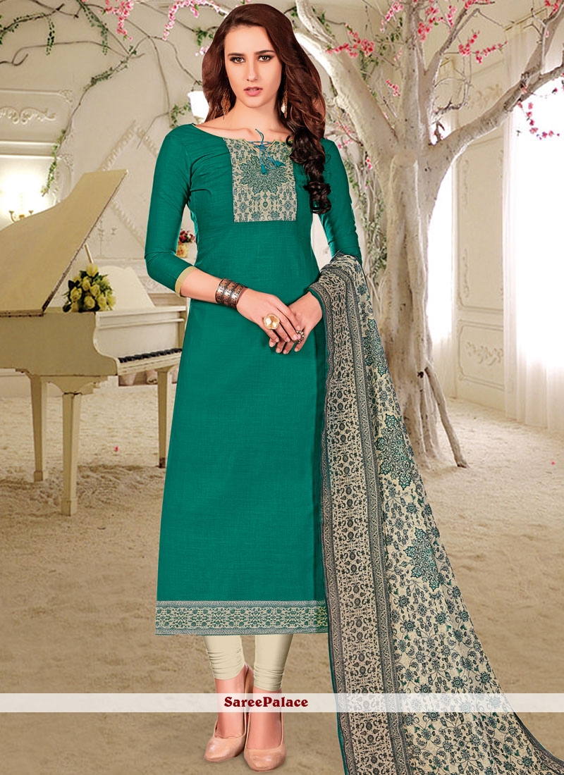 Buy Perfervid Sea Green Churidar Suit Online