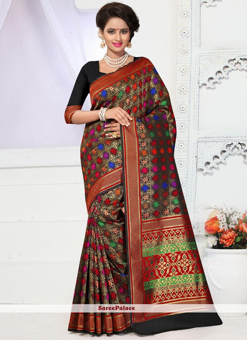 Picturesque Banarasi Silk Multi Colour Designer Traditional Saree