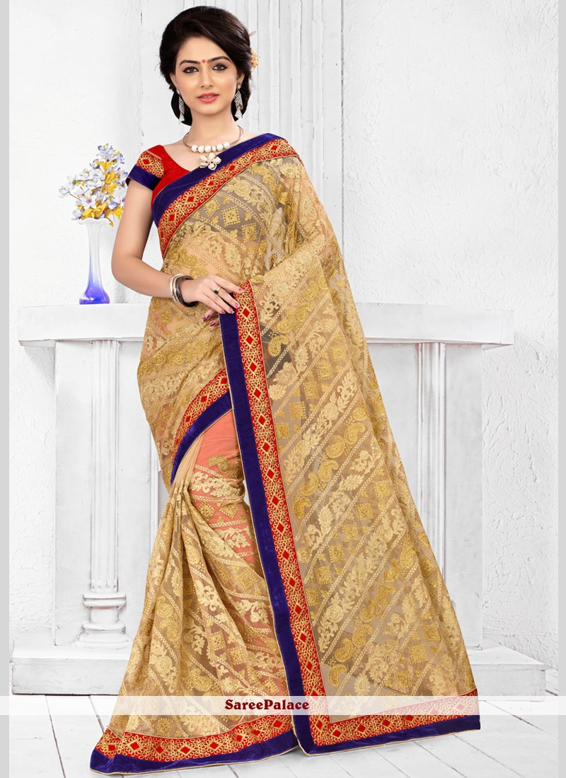 Picturesque Net Classic Designer Saree