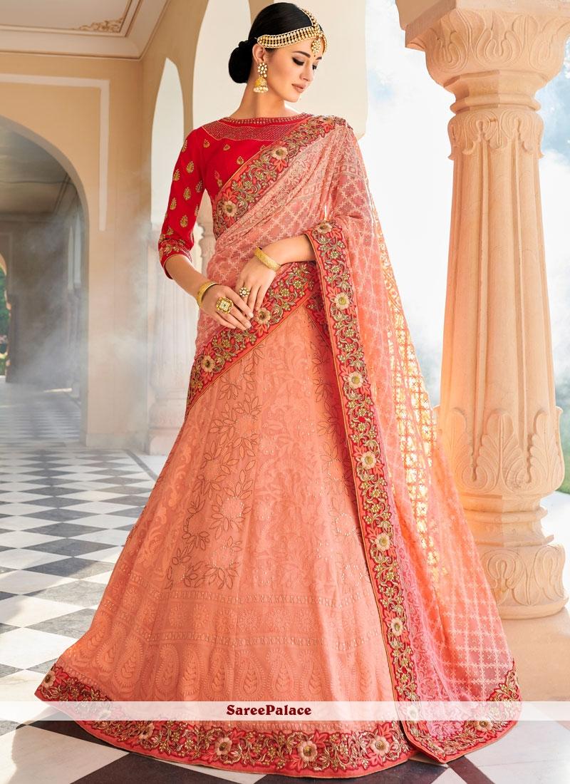 1217e2a754 Buy Pink Art Silk Lehenga Choli Online