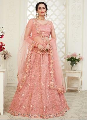 Pink Banglori Silk Trendy Lehenga Choli