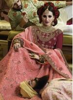 Pink Bridal Art Silk Lehenga Choli