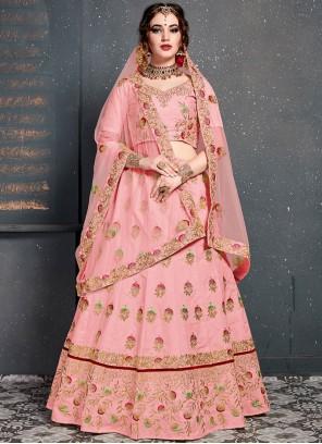 Pink Bridal Designer Lehenga Choli