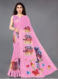 Pink Casual Designer Saree