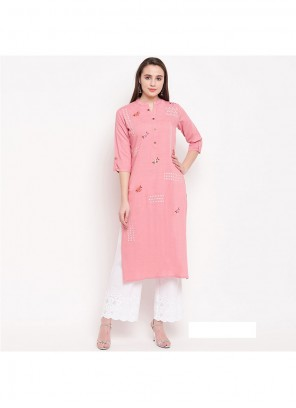 Pink Casual Party Wear Kurti