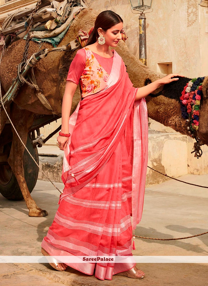 Pink Casual Saree
