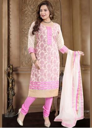 Pink Ceremonial Churidar Designer Suit