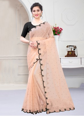Pink Ceremonial Glass Tissue Designer Saree