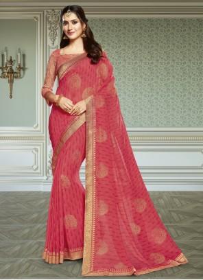 Pink Ceremonial Trendy Saree