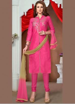 Pink Churidar Salwar Kameez