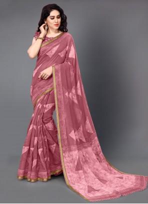 Pink Color Casual Saree