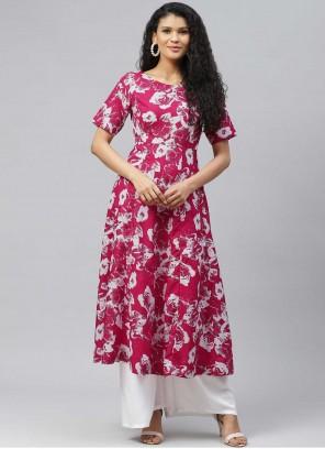Pink Color Designer Kurti