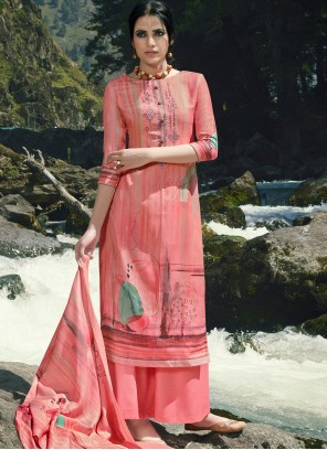Pink Color Designer Palazzo Suit