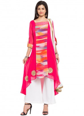 Pink Color Readymade Salwar Kameez