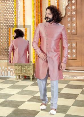 Pink Color Sherwani