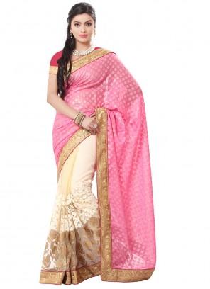 Pink Contemporary Saree