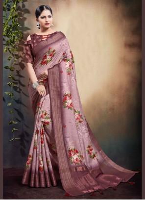 Pink Cotton Classic Saree
