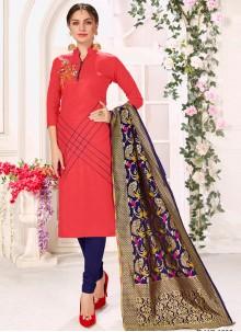 Pink Cotton Salwar Suits