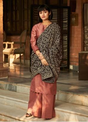 Pink Designer Palazzo Salwar Suit