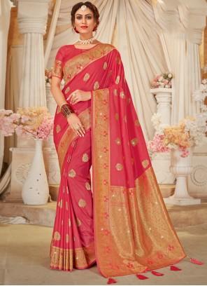 Pink Designer Traditional Saree