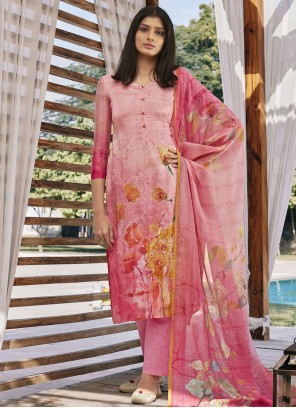 Pink Digital Print Festival Designer Pakistani Suit