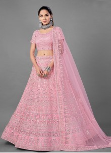 Pink Dori Work Engagement Lehenga Choli