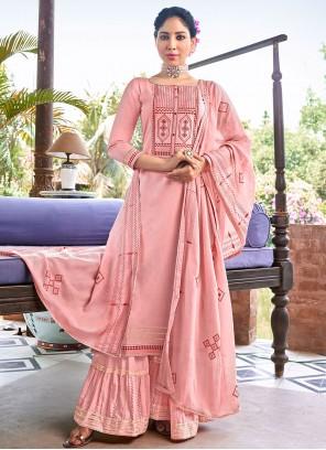 Pink Embroidered Bollywood Salwar Kameez