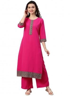 Pink Embroidered Designer Kurti