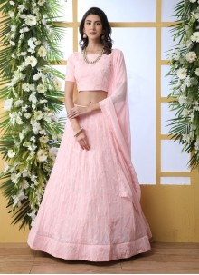 Pink Embroidered Festival Lehenga Choli