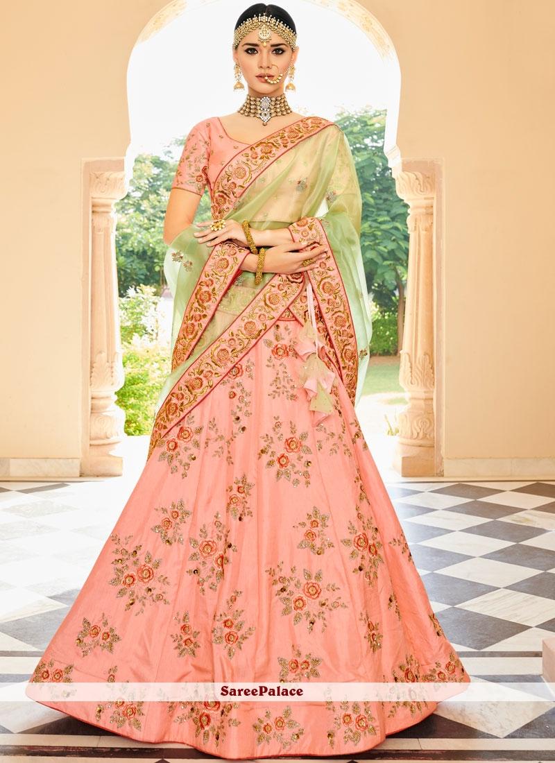 aa996c1af6f Buy Pink Embroidered Lehenga Choli Online