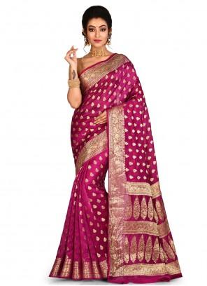 Pink Engagement Contemporary Saree