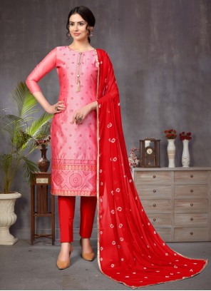 Pink Fancy Churidar Designer Suit