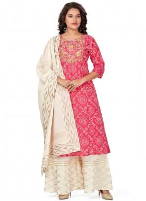 Pink Fancy Designer Palazzo Suit