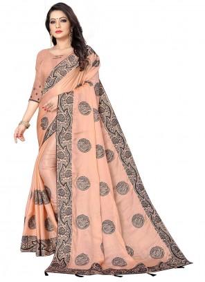 Pink Fancy Fabric Designer Saree