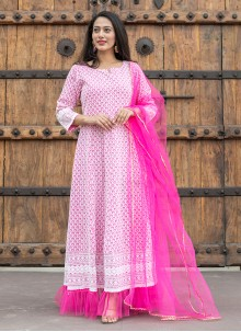 Pink Fancy Festival Readymade Suit