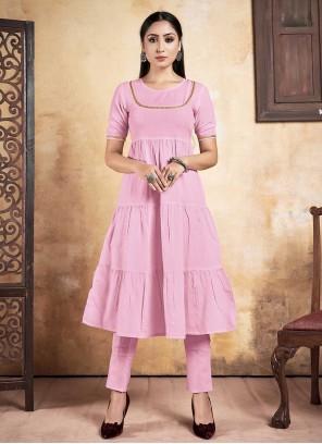 Pink Fancy Party Wear Kurti