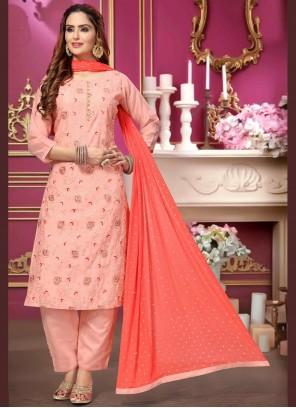 Pink Festival Chanderi Designer Salwar Kameez